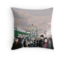 London filled with masks Throw Pillow