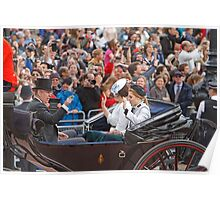 Princess Beatrice,Eugenie & Prince Andrew on their way to Trooping The Colour Poster