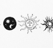 moon and sun sticker Sticker