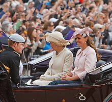 Prince Harry, Camilla & Kate travel to Trooping The Colour by Keith Larby