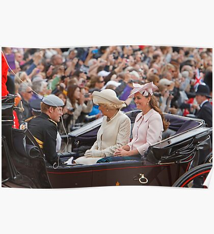 Prince Harry, Camilla & Kate travel to Trooping The Colour Poster