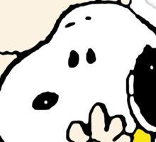 Charlie Brown Loves Snoopy Hug Sticker