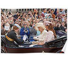 Camilla, Prince Harry & Kate The Duchess Of Cambridge Poster