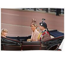 Prince Edward with Sophie and their daughter Lady Louise Windsor Poster