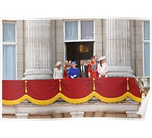 The Royal Family on the Balcony after Trooping The Colour Poster