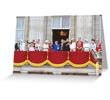 The Royal Family on the Balcony after Trooping The Colour Greeting Card