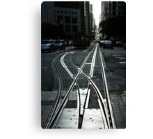 San Francisco Silver Cable Car Tracks Canvas Print