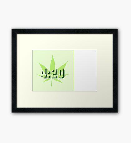 4:20 - Legalize Cannabis VRS2 Framed Print