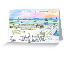 Ribeira das Naus sketch. Lisbon Greeting Card