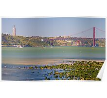 Tejo. Lisbon bridge. Poster