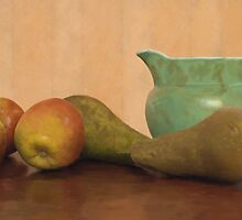 Apples, Pears and Jug by Gary Wilkinson