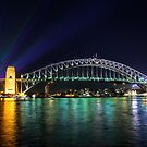 Sydney Harbour Bridge at Night by Rod Kashubin