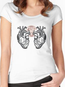 The Twin Heartbeat of a Time Lord Women's Fitted Scoop T-Shirt