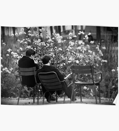 Relaxing in Jardin des Tuileries Poster