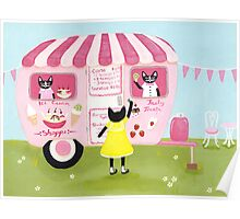 The Ice Cream Shoppe Cats Poster