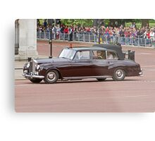 Prince Harry, Prince William & Kate arrive at Buckingham Palace Metal Print