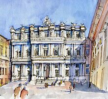 Palazzi Ducale a Genova- color version by Luca Massone  disegni