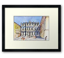 Palazzi Ducale a Genova- color version Framed Print