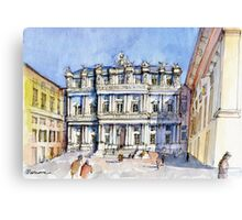 Palazzi Ducale a Genova- color version Canvas Print