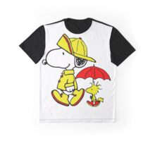 Raining Snoopy and Woodstock Graphic T-Shirt