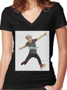 Joe Sugg Women's Fitted V-Neck T-Shirt