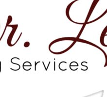 Dr Lecter - catering services Sticker