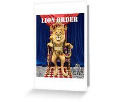 Dj Khaled Lion Order parody  Greeting Card