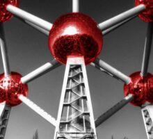 Red Atomium part deux Sticker