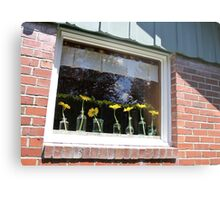 University Place Garden Tour - Home #1 Dancing Gerbera Daisies on a Sill Metal Print