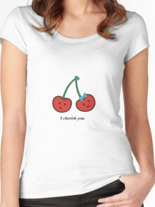 cherry love Women's Fitted Scoop T-Shirt