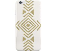 Gold Glitter Tribal Design iPhone Case/Skin