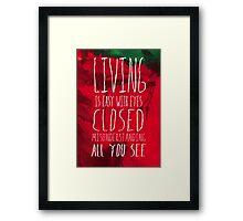 Strawberry Fields Forever - The Beatles - Lyric Poster Framed Print