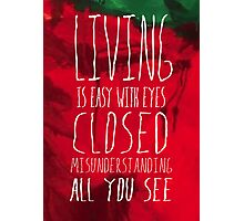 Strawberry Fields Forever - The Beatles - Lyric Poster Photographic Print
