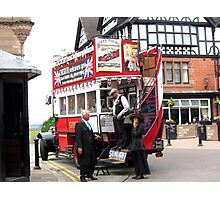 VINTAGE TRANSPORT IN CHESTER Photographic Print
