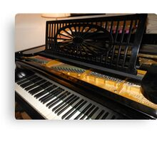 Bechstein Mini Grand Piano - Keyboard Close-up Canvas Print