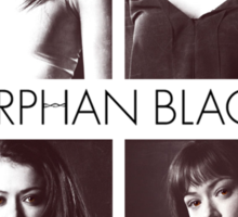 Orphan Black (black text) Sticker