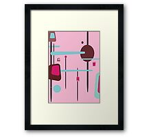 Retro Abstract In Pinks Framed Print