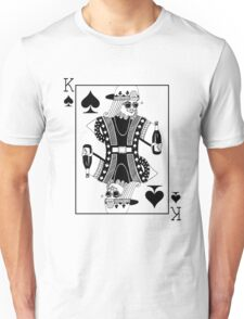 Contemporary King of Spades Unisex T-Shirt
