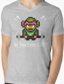 Do You Even Lift? 16-bit Link Edition Mens V-Neck T-Shirt