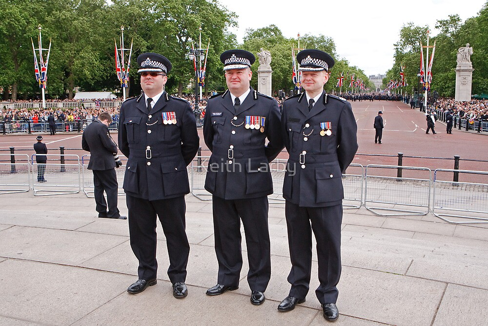 Police At Trooping The Colour by Keith Larby