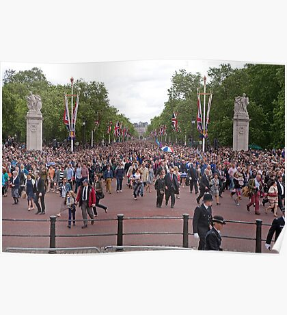 Crowds gathering at Trooping The Colour Poster