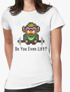 Do You Even Lift? 16-bit Link Edition v2 Womens Fitted T-Shirt