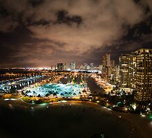 Honolulu at Night by kitten1126