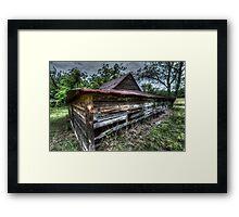 HDR - Lurking Barn Framed Print