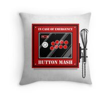 Button Mash Throw Pillow