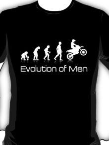Evolution of Men - White Print T-Shirt
