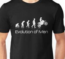 Evolution of Men - White Print Unisex T-Shirt