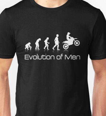 Evolution of Men - White Print Unisex T-Shirt
