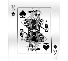 Contemporary King of Spades Poster