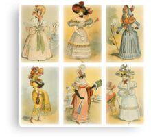 Vintage French fashion (18th-19th century) Canvas Print